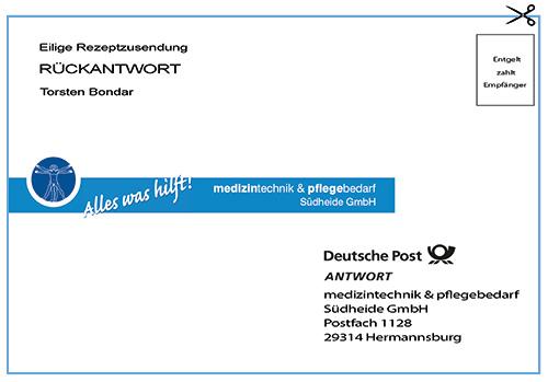 C5 Umschlag Freibrief